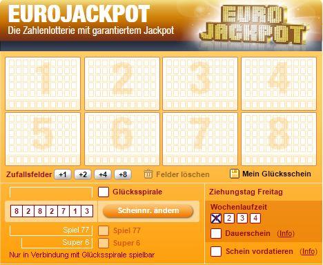 euro spielschein