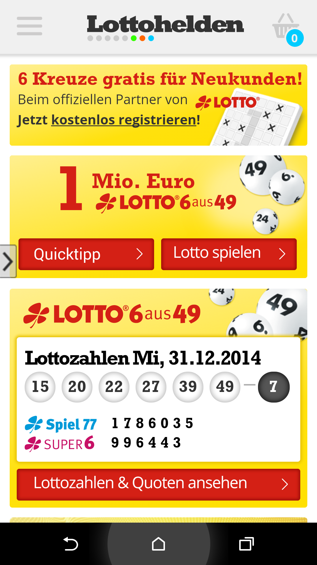 Lottohelden App Android